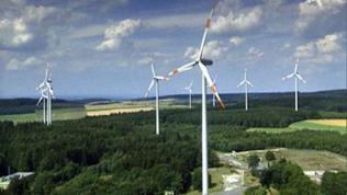 Windkraftpark bei Morbach