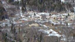 Der Mont-Blanc Express hinter Finhaut