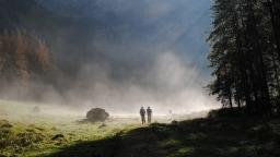 Wanderer im Nationalpark Berchtesgaden