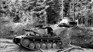Zwei Panzer im Wald - Westfeldzug Mai 1940