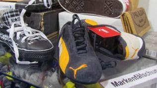 Markenfälschungen von Schuhen