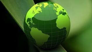 Grüne Weltkugel auf grünem Hintergrund