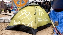 Zelt im Occupy-Camp in Berlin