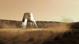 MarsOne - Marskapsel  bei der Landung