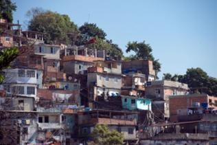 Wohnhäuser in der Favela Santa Marta