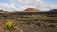 Landschaftstotale mit Vulkan