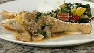 Hähnchen in Sherrysauce mit Mangoldgemüse