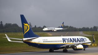 Ryanair-Maschine am Hahn