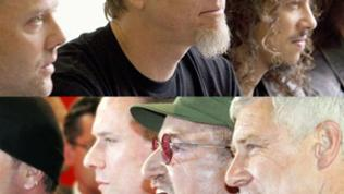 Collage aus den Bands Metallica und U2