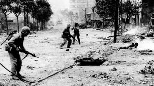 Amerikanische Soldaten in Seoul, Korea, 1950