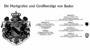 Stammbaum des Hauses Baden - Auszug