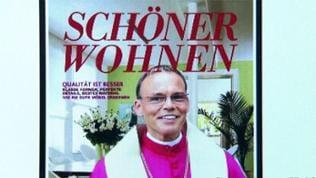 """""""Schöner Wohnen"""" Montage mit Bishof Tebartz van Elst"""