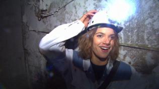 Lena Ganschow im Salzbergwerk