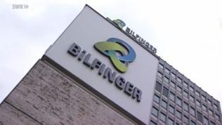 Logo des Bilfinger-Gebäudes in Mannheim