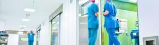 Krankenhaus-Personal in einer Klinik
