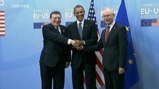 Barrack Obama zu Gast in Brüssel