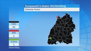 Europawahl Baden-Württemberg, Stärkste Partei