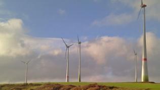Windräder drehen sich