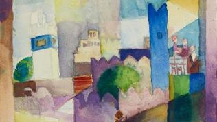 "August Mackes Gemälde ""Kairouan III"""