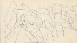 Skizze von August Macke