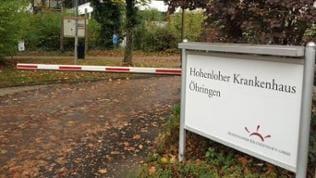 Schild Hohenloher Krankenhaus
