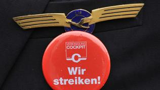 Button Wir streiken!