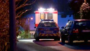 Polizei und Rettungswagen im Einsatz in Bleialf.