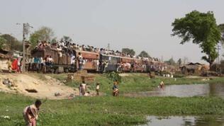 So sah es auf der momentan stillgelegten Janakpur Railway aus – die Züge waren immer gut belegt.