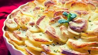 Ein frisches Kartoffelgratin.