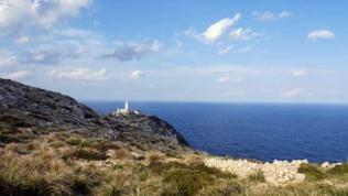 Leuchtturm Formentor am Ende des Wanderweges.
