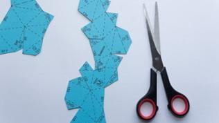 Vorlage Papierhase mit Schere