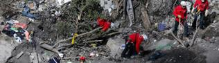 Search works to collect debris and find the second black box resume at the crash site of the Germanwings Airbus A320 in the French Alps