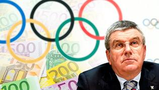 International Olympic Committee, IOC, President Thomas Bach of Germany - im Hintergrund Geld