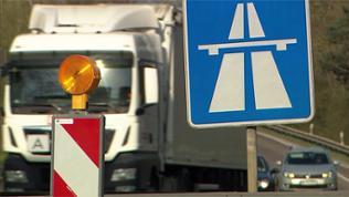 Ein Autobahn-Schild