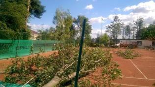 Sturm Framersheim / Schäden am Tennisplatz