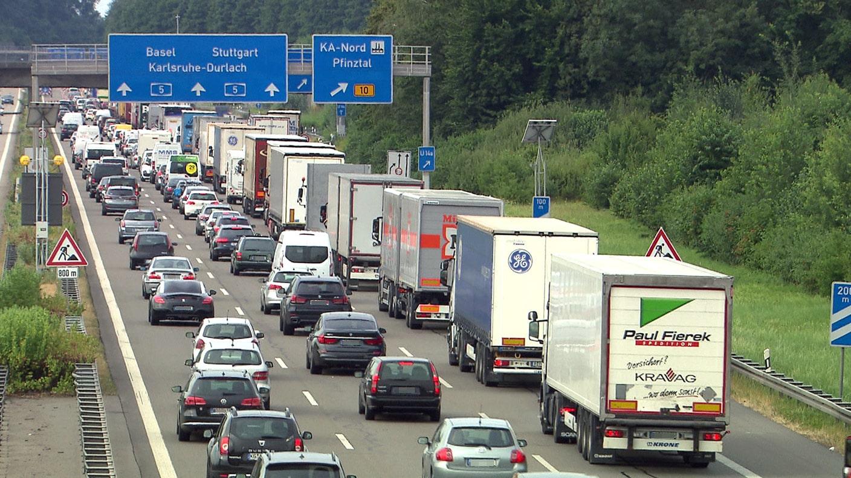 Autobahnbaustellen A8
