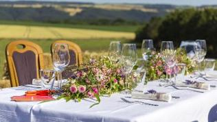 Dinnertafel von SWR-Landfrau Silke Fuchsen