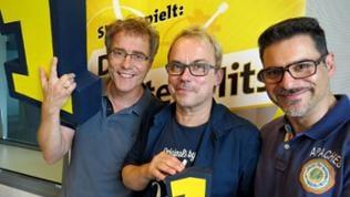 Henni Nachtsheim und Rick Kavanian mit Moderator Hanns Lohmann