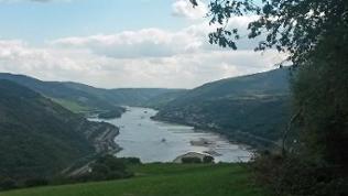Ausblick auf den Mittelrhein bei Bacharach