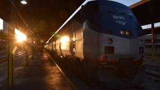 """Kurz vor der Abfahrt des """"Crescent"""" um 7.00 Uhr morgens in New Orleans."""