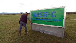 Mobile Schlachtbox auf der Weide