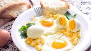 verschiedene Frühstückseier