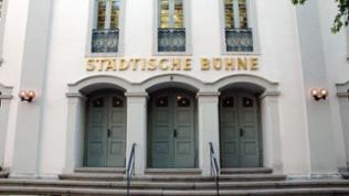 Eingang zur Städtischen Bühne Heidelberg