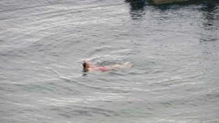Sogar ein Bad im Baikalsee wagte der eine oder andere Reiseteilnehmer, das Wasser dürfte etwa 14° C gehabt haben.