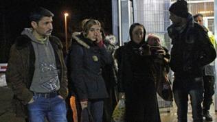 Flüchtlinge kommen nachts in Meßstetten an