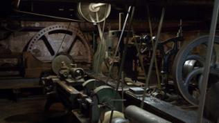 Masson Mill, Matlock Bath. Im Working Textile Museum, Wekstatt