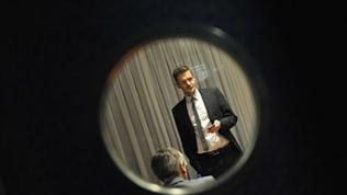Florian Schroeder bei der Spätschicht im Staatstheater Mainz - vor der Aufzeichnung