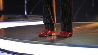 Die Schuhe von Arnulf Rating beim Auftritt in der Spätschicht