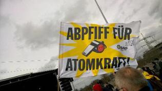 Anti-Atomkraft-Demo am AKW Neckarwestheim