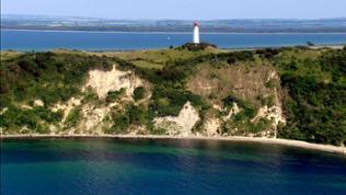 Blick auf den Leuchtturm von Hiddensee